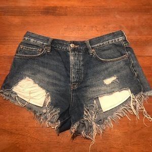 We the Free Jean Shorts, Women's 26, Button up